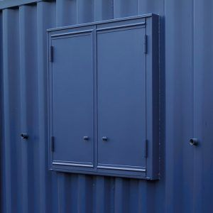 Secure steel container